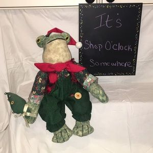 Vintage Avon Singing Christmas Frog